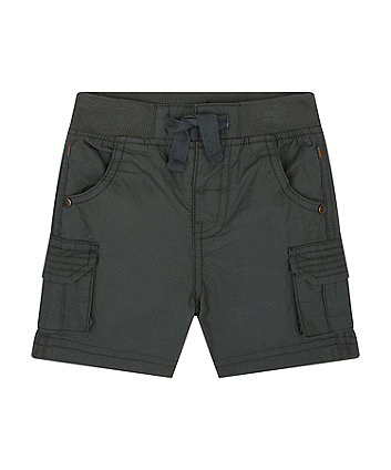 Mothercare Black Cargo Shorts