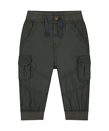 Mothercare Black Cargo Trousers