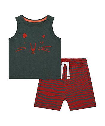Tiger Vest T-Shirt And Shorts Set [SS21]