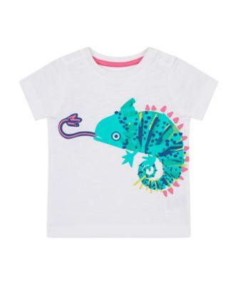 Mothercare Save The Rainforest White Chameleon Epp Short Sleeve T-Shirt