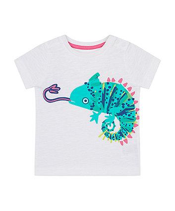 Mothercare White Chameleon T-Shirt