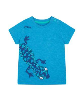 Mothercare Save The Rainforest Blue Lizard Uber Short Sleeve T-Shirt