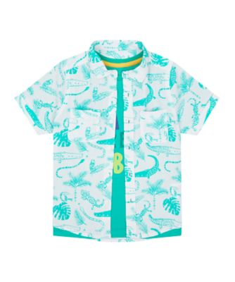 Mothercare Save The Rainforest Allover Print Shirt And Short Sleeve T-Shirt Set