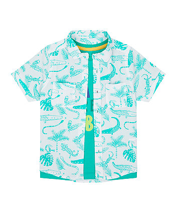 Mothercare Rain Forest T-Shirt And Shirt Set