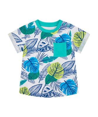 Mothercare Save The Rainforest White Palm Print Short Sleeve T-Shirt