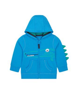 Mothercare Save The Rainforest Blue Novelty Croc Zip Thru Hoody
