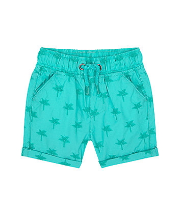 Mothercare Green Palm Embroidered Poplin Shorts