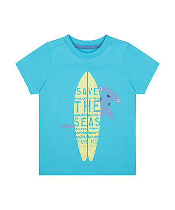 Mothercare Save The Seas Surfboard T-Shirt