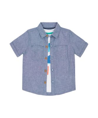 Mothercare Surf And Turf Fintastic Shirt And Short Sleeve T-Shirt