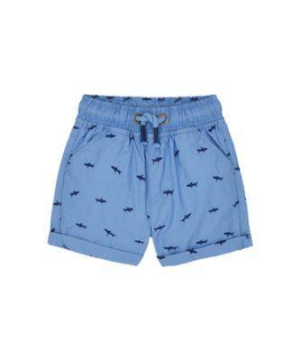 Mothercare Surf And Turf Blue Allove Print Embroidiery Poplin Short