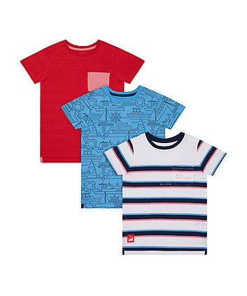 Mothercare Sail Away T-Shirts - 3 Pack
