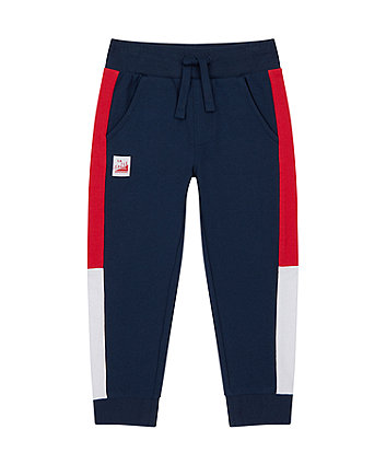 Mothercare Navy Side Stripe Joggers