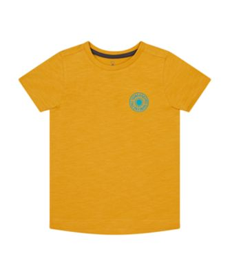 Mothercare Road Trip Mustard Embroideried Short Sleeve T-Shirt