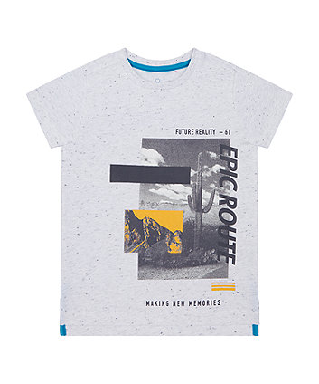 Mothercare White Epic Photographic T-Shirt