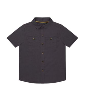 Mothercare Road Trip Grey Time To Travel Short Sleeve Shirt