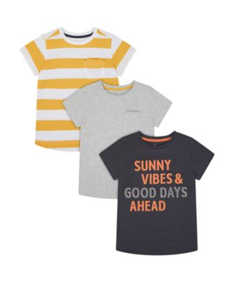 Mothercare Road Trip Short Sleeve T-Shirt - 3 Pack