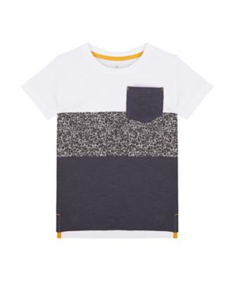 Mothercare Road Trip Dark Cut & Sew Stripe Short Sleeve T-Shirt