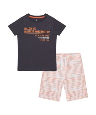 Mothercare Road Trip Allover Print T-Shirt And Short Set