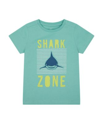 Mothercare Save The Waves Blue Shark Zone Uber Short Sleeve T-Shirt