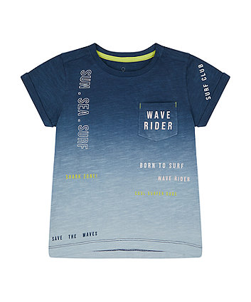 Mothercare Navy Ombre Wave Rider T-Shirt