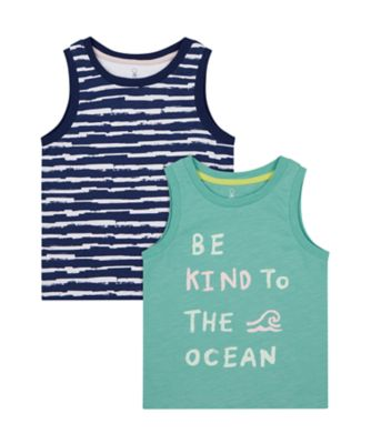 Mothercare Save The Waves Vests - 2 Pack