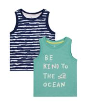 Mothercare Be Kind Vest T-Shirts - 2 Pack