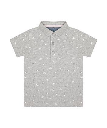 Mothercare Grey Waves Polo Shirt