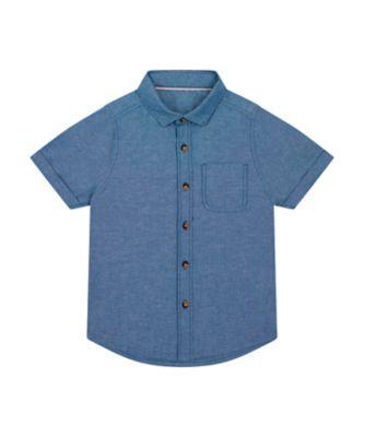 Mothercare Save The Waves Chambray Short Sleeve Shirt