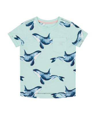 Mothercare Save The Waves Aqua Whale Short Sleeve T-Shirt