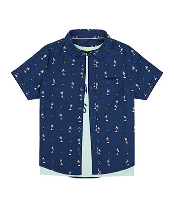Mothercare Totally Jawsome Shirt And T-Shirt Set