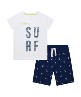 Mothercare Save The Waves Surf T-Shirt And Short Set