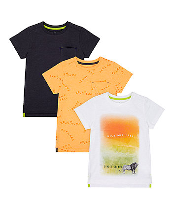 Mothercare Wild And Free T-Shirts - 3 Pack