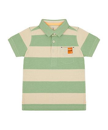 Mothercare Green Striped Polo Shirt