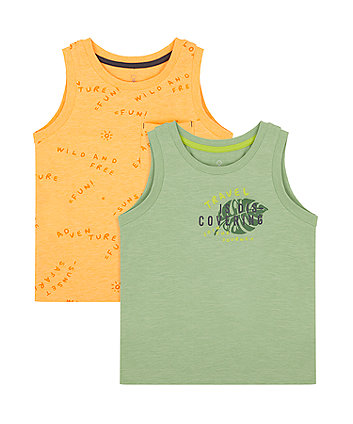 Mothercare Explore And Discover Vest T-Shirts - 2 Pack