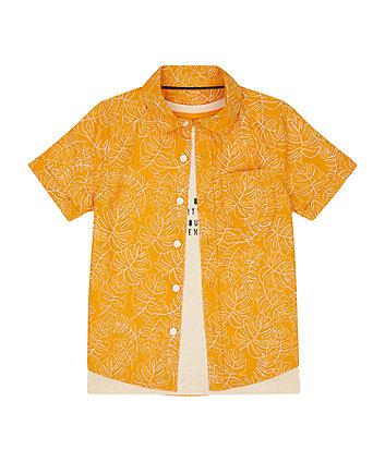Mothercare Orange Shirt And T-Shirt Set