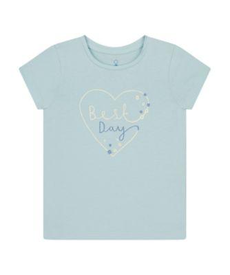 Mothercare Summer Skies Uber Light Blue Bestday Short Sleeve T-Shirt