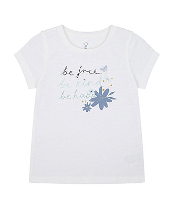 Mothercare White Be Kind T-Shirt