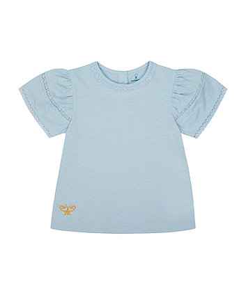 Mothercare Embroidered Butterfly T-Shirt