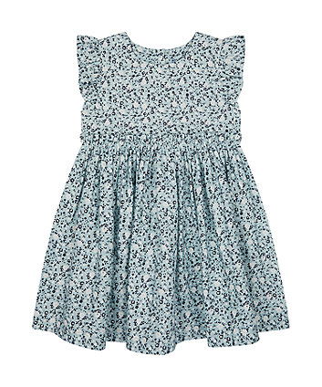 Mothercare Blue Floral Woven Dress