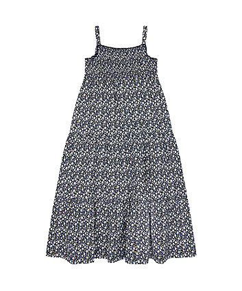 Mothercare Navy Floral Maxi Dress
