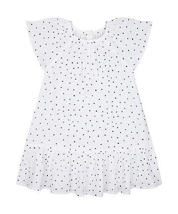 Mothercare Navy Spot Dress