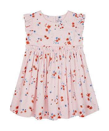 Mothercare Pink Floral Woven Dress