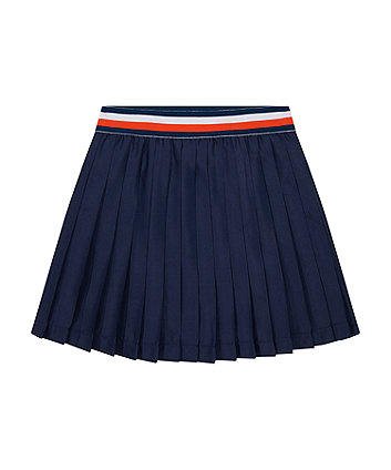 Mothercare Navy Pleated Skirt