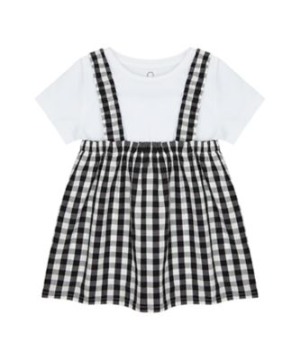 Mothercare Summer Rebel Gingham Check Blouse And Short Sleeve T-Shirt