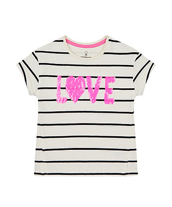 Mothercare Love Sequin T-Shirt