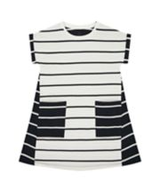Mothercare Black And White Jersey Dress