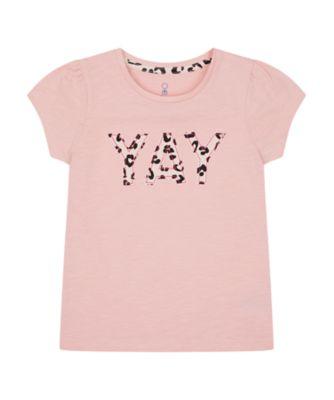 Mothercare Summer Rebel Pink Yay Best Short Sleeve T-Shirt