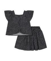 Mothercare Black Heart-Print Skirt And T-Shirt Set