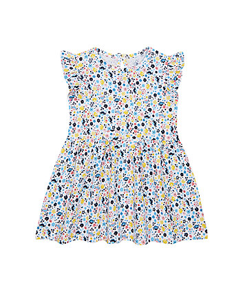 Mothercare White Floral Jersey Dress