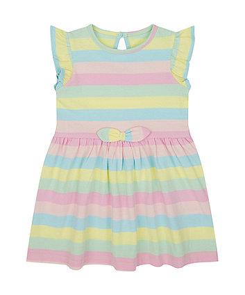 Mothercare Rainbow-Stripe Jersey Dress